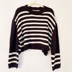 NWT Bishop & Young Navy Striped Celeste Sweater